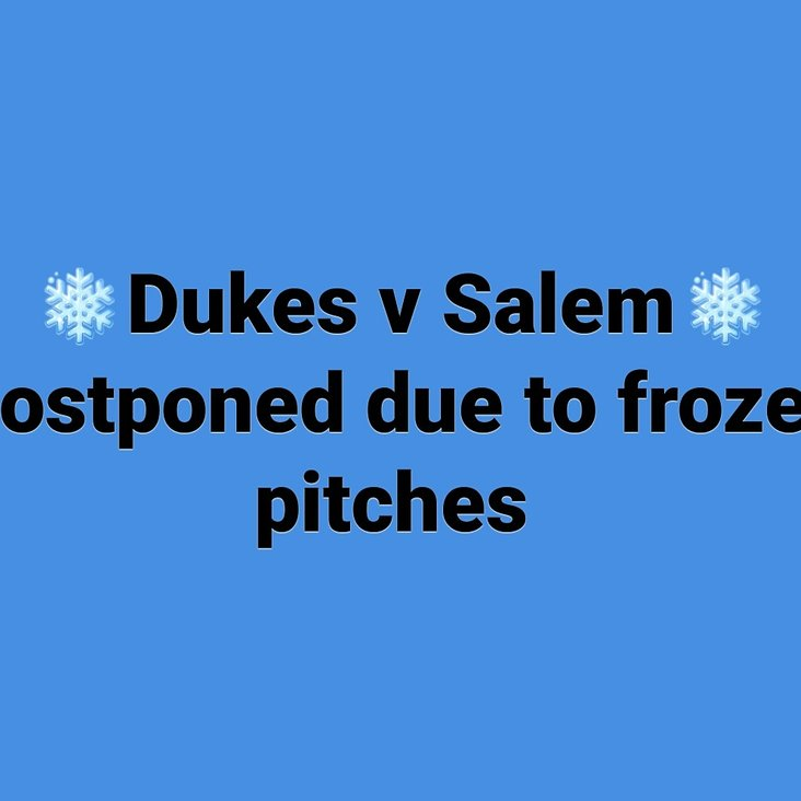 Halifax Dukes v Bradford Salem Postponed<