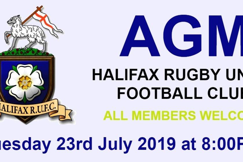 HALIFAX RUFC AGM 2019