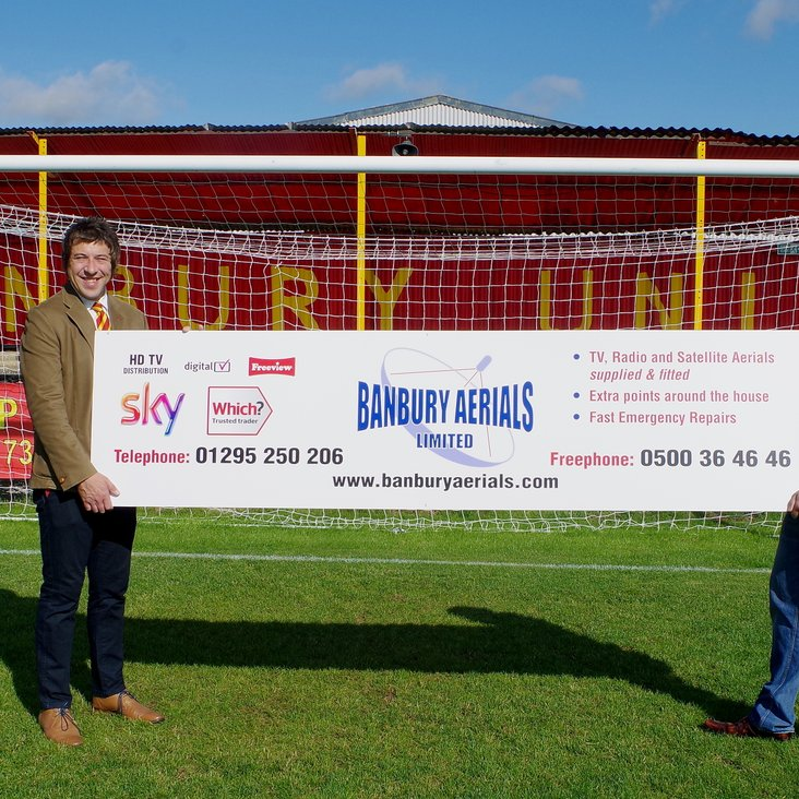 Banbury Aerials supporting the club<
