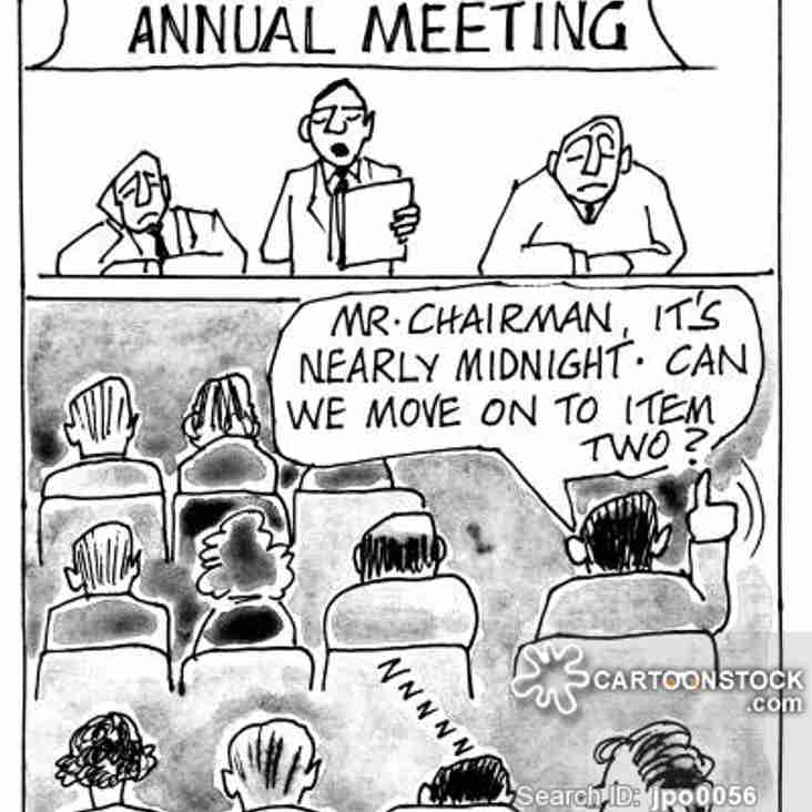 AGM 2019: Thurs 23 May