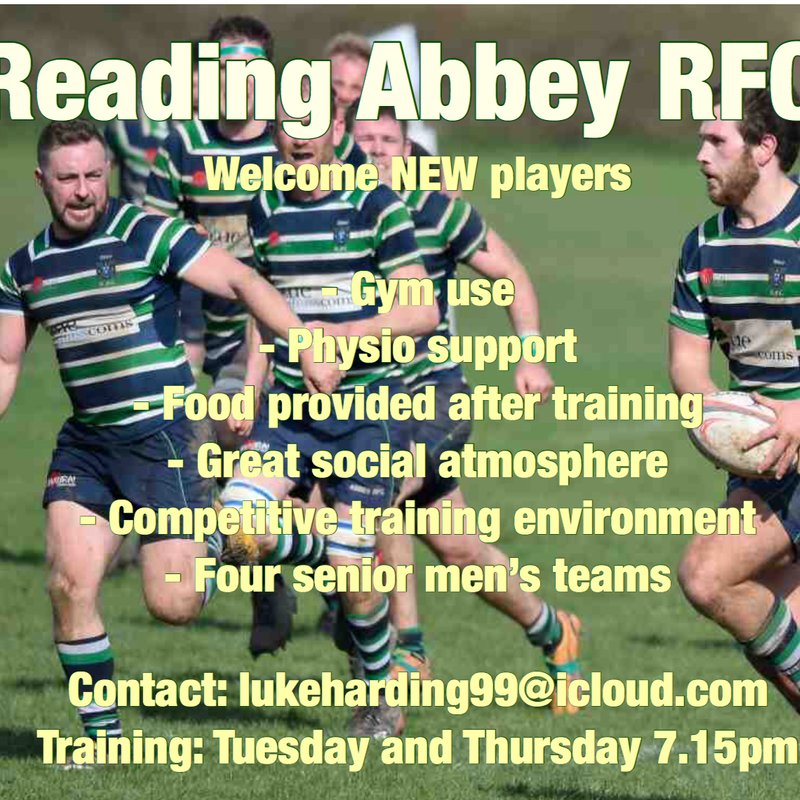Abbey RFC welcome new players