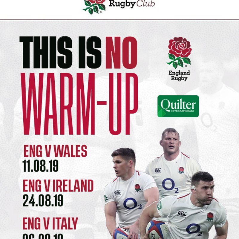 England's Quilter Internationals 2019
