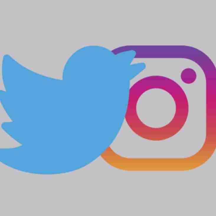 New Official Twitter & Instagram