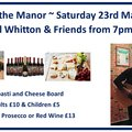 Music at the Manor this Saturday
