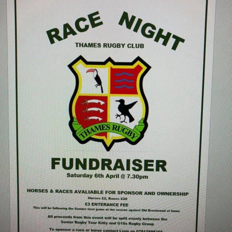 Race Night 6th April 2019 at 7.30PM