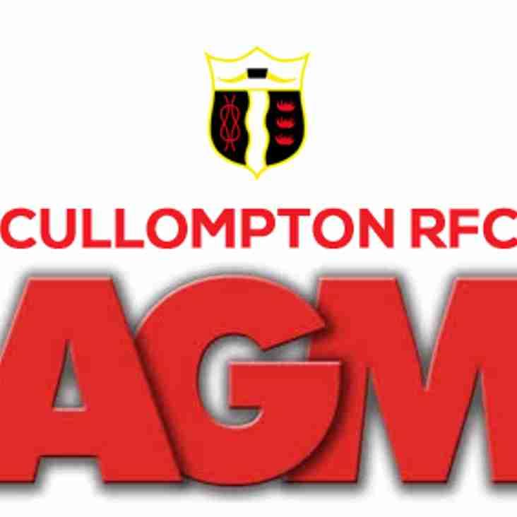 CULLOMPTON RFC AGM 2019