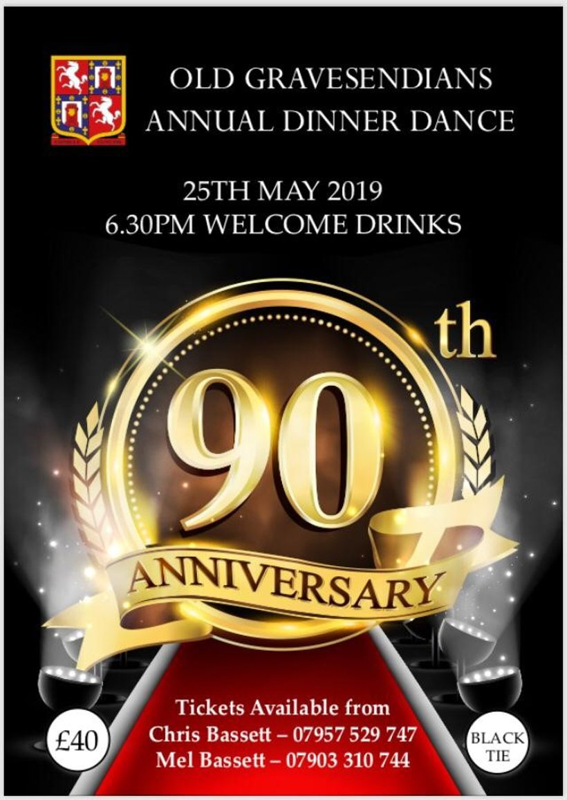 Old Gs End of Season Dinner Dance - Saturday 25th May - Get Your