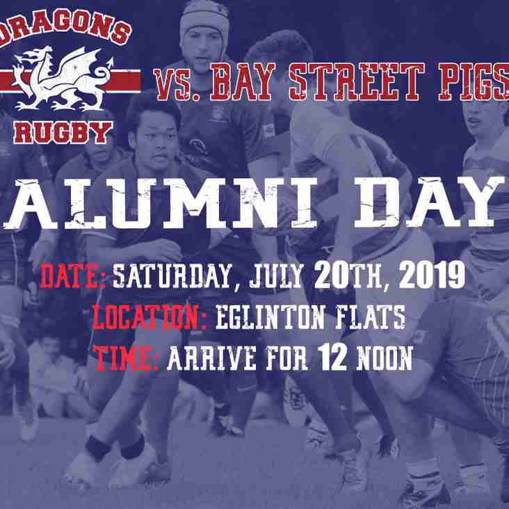 Dragons Host ALUMNI DAY July 20th