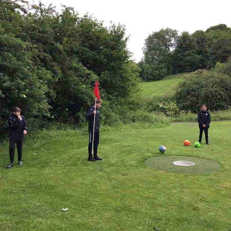 Zorb football and Footgolf with the Under 14's!