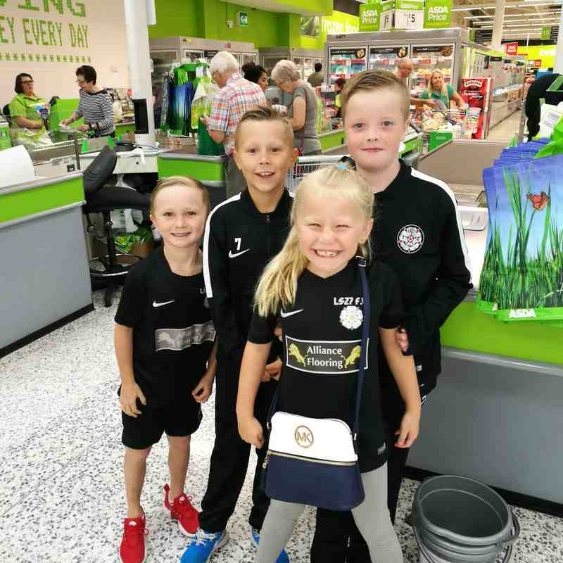 Under 10's Bag packing for the public of Morley in Asda!