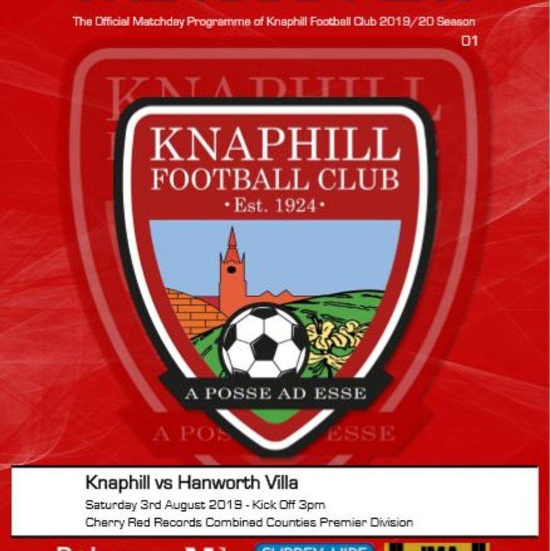 Matchday Programme Hanworth Villa