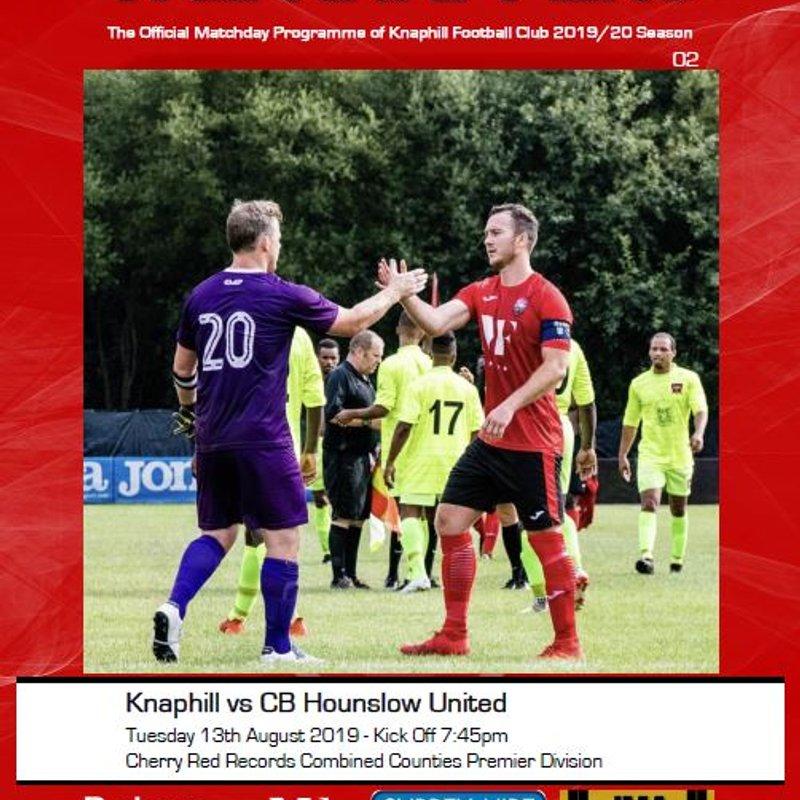 Matchday Programme - CB Hounslow Utd