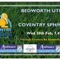 Under 18s away at Bedworth