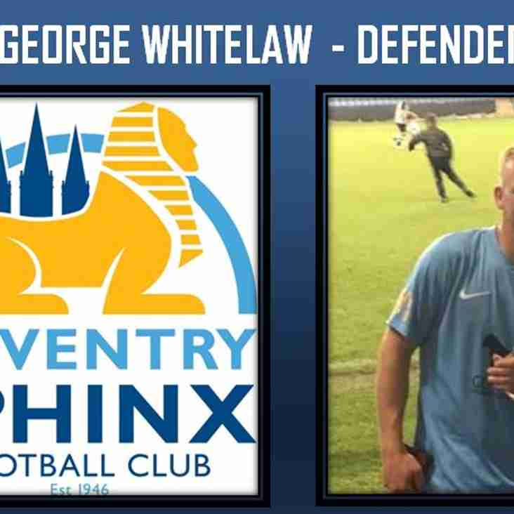 George Whitelaw arrives at Sphinx Drive