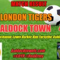 LONDON TIGERS 1 BALDOCK TOWN 4 (HT 1-3)