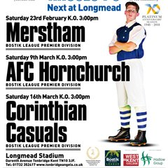 Latest 1st Team Home Match Poster