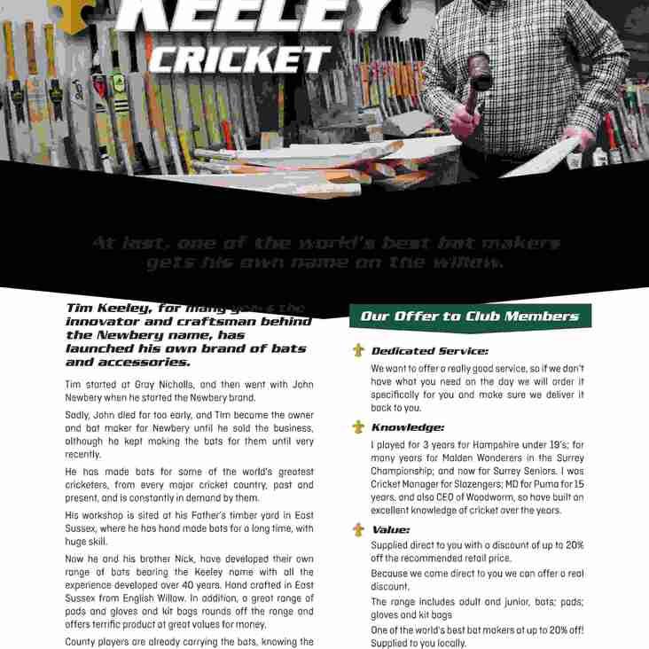 Keeley Cricket - Friday 17th May 5pm