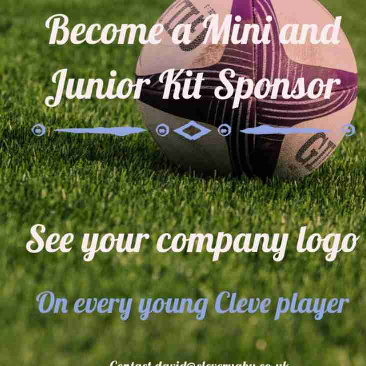 Minis and Junior Kit sponsorship