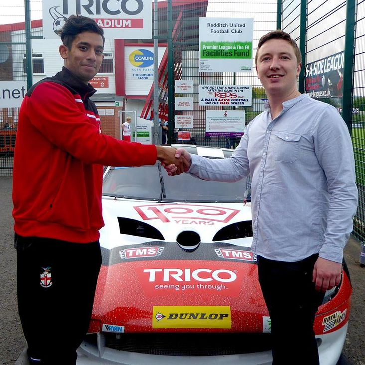 TRICO increases Redditch United support with personal player sponsorship of Arjun Jung<