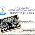 Centenary Dinner - Update - As at  9am - Thursday 20 June