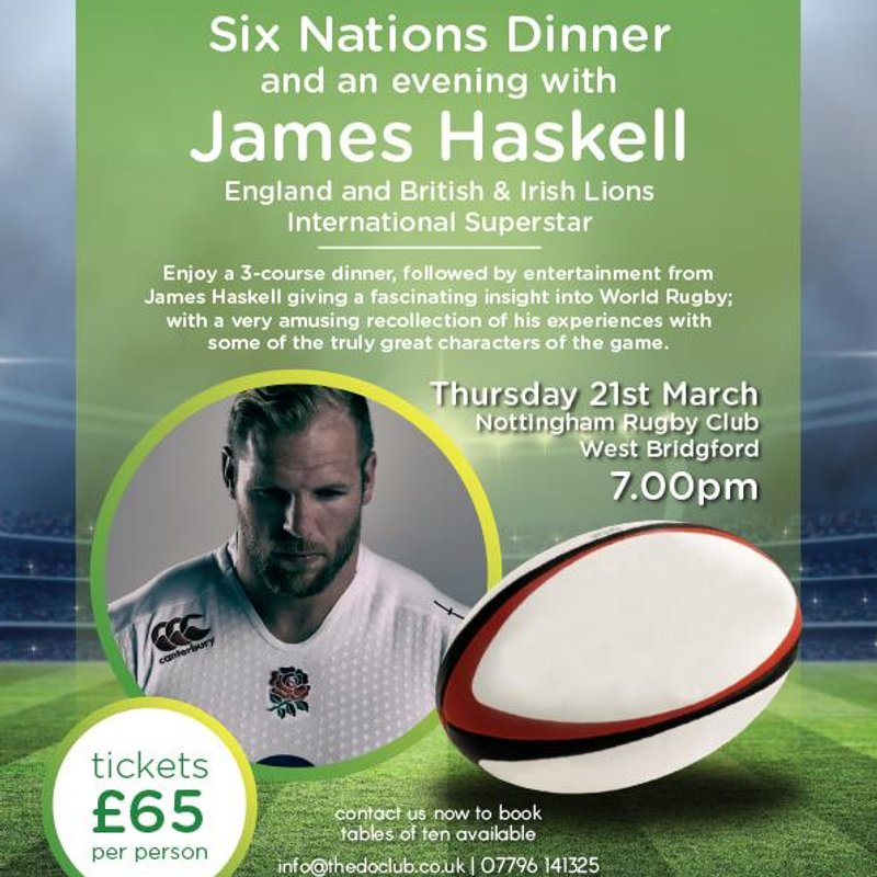 SIX NATIONS DINNER WITH JAMES HASKELL