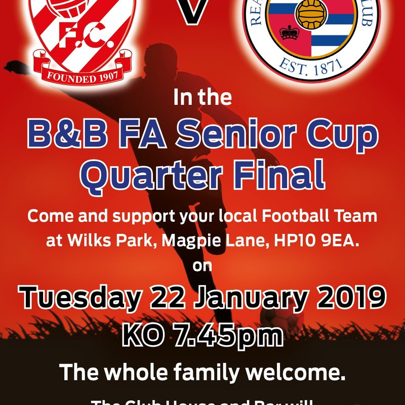 It's Reading FC in the B&B Senior Cup