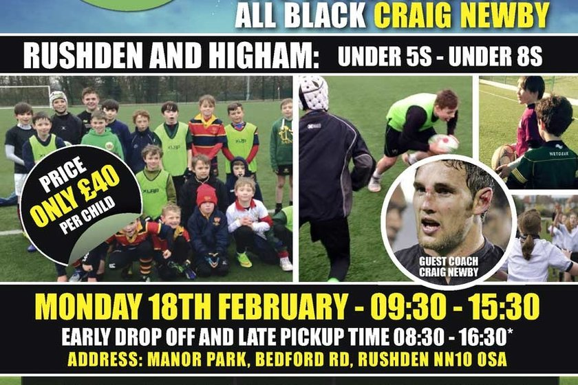 TAG RUGBY FOR AGES 4-8 AND TACKLE ACADEMY FOR AGES 8-13