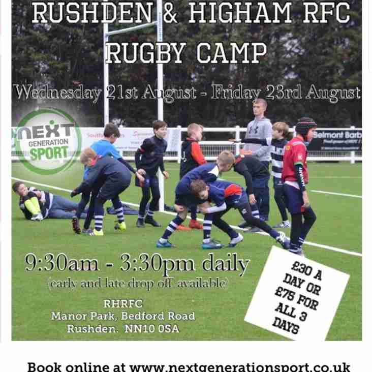 The RHRUFC Rugby Camp