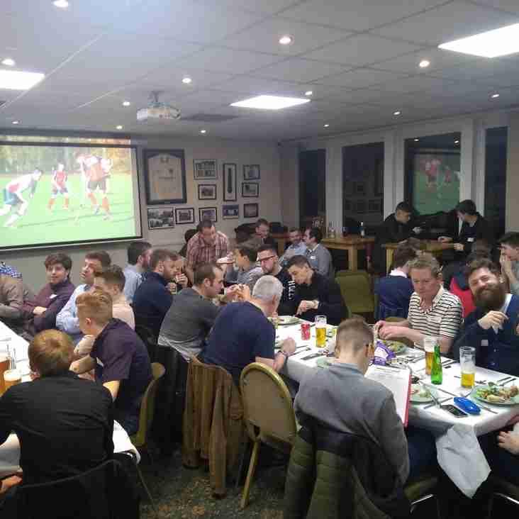 Men's end of season dinner, Saturday 30 March