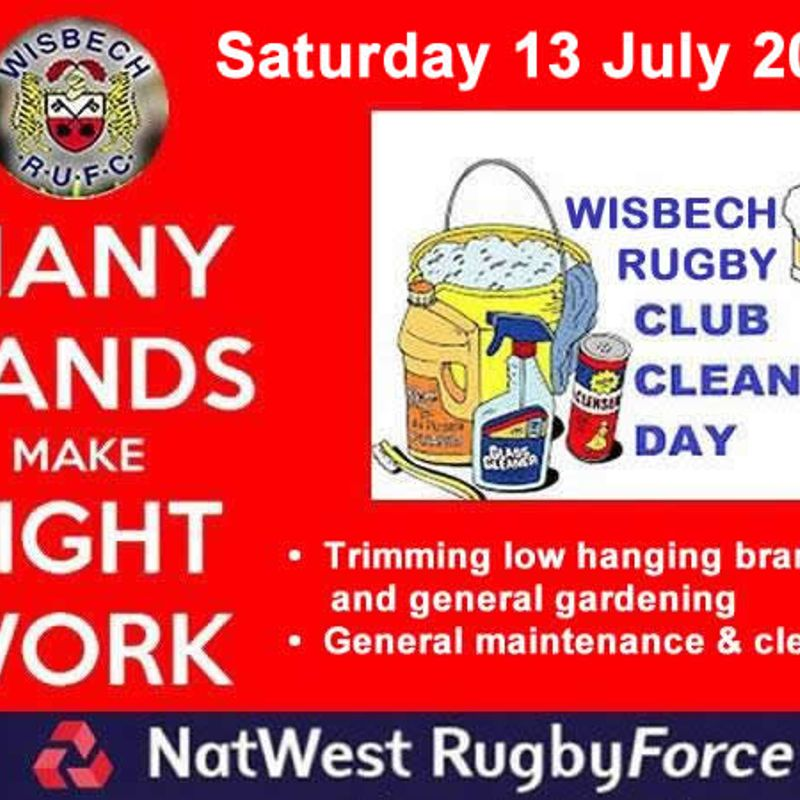 Club Work Day: Sat 13th July