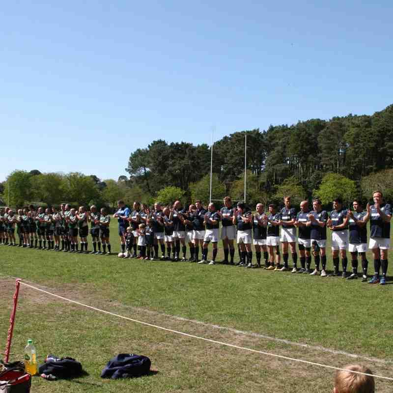 #TheHomeComing Match Meyrick Park 18-4-2015  Oaks Old Boys V Wimborne RFC vets