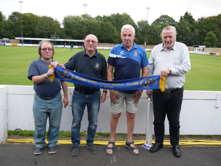 Romford fans Brian, Mike, Dave and Alan
