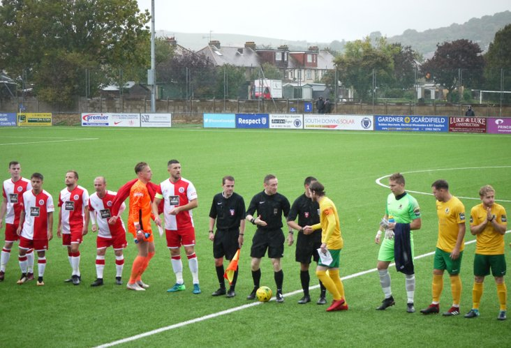 The teams emerge into the murk