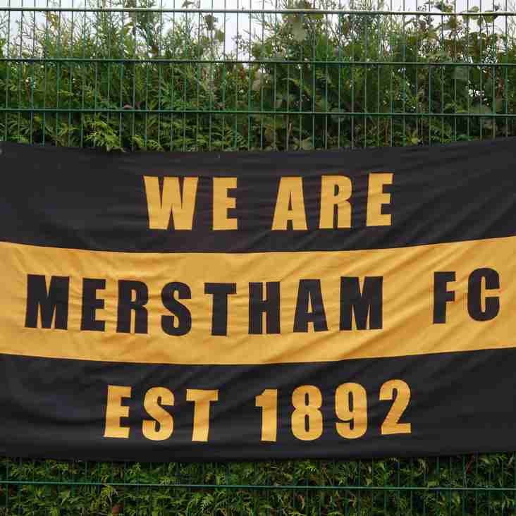 Merstham sign a Shrimper
