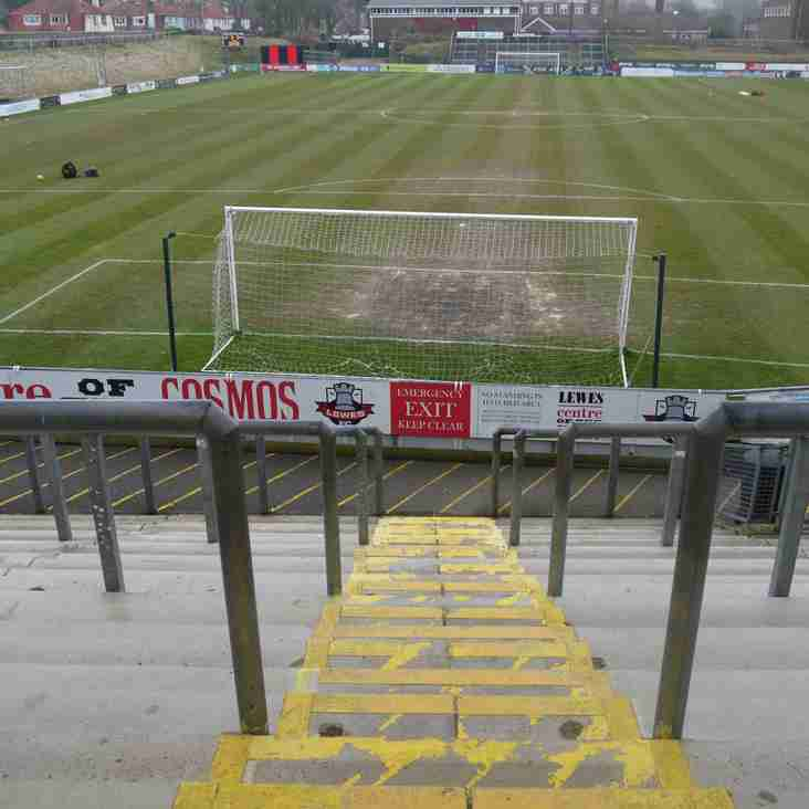 After two hundred and ten minutes- and seven penalties- Lewes march on
