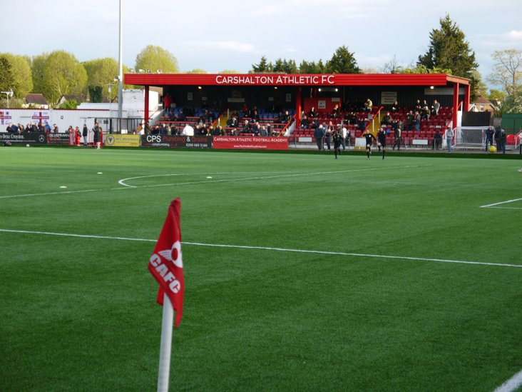 The main stand at Colston Avenue