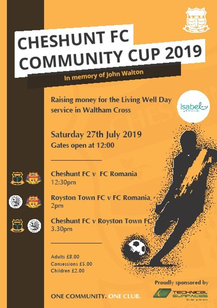 Cheshunt Community Cup 2019