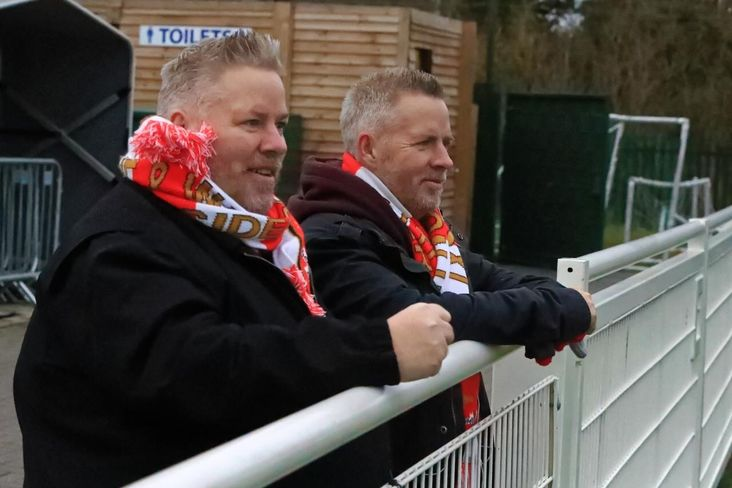 Seeing double with Felixstowe and Walton United- Stuart and his brother Chris