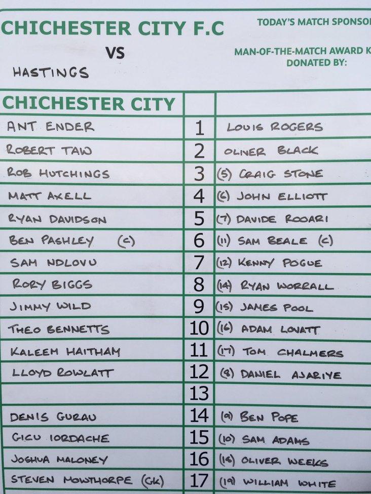 Chichester City v Hastings United