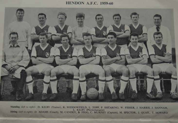 The Hendon Squad for the FA Amateur Cup Final, 1960