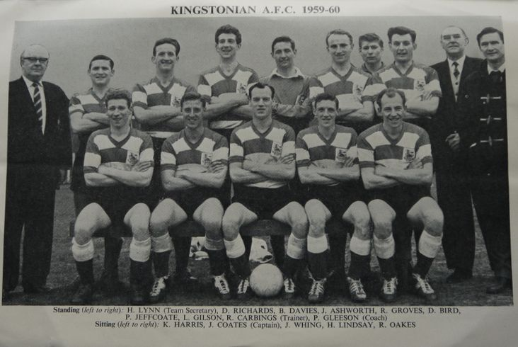 The Kingstonian squad for the FA Amateur Cup Final, 1960