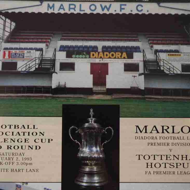 Football Programmes of Yesteryear No. 4: Marlow v Tottenham Hostpur, FA Cup Third Round, January 1993