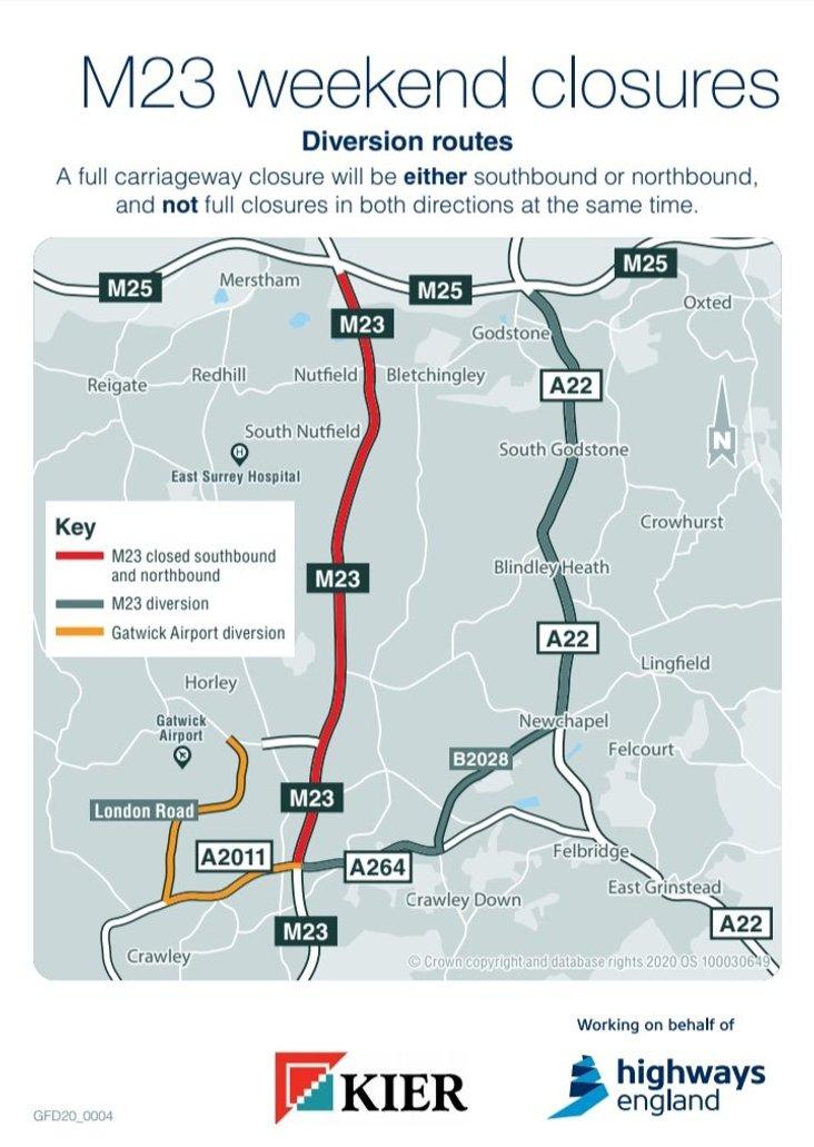 M23 closures map