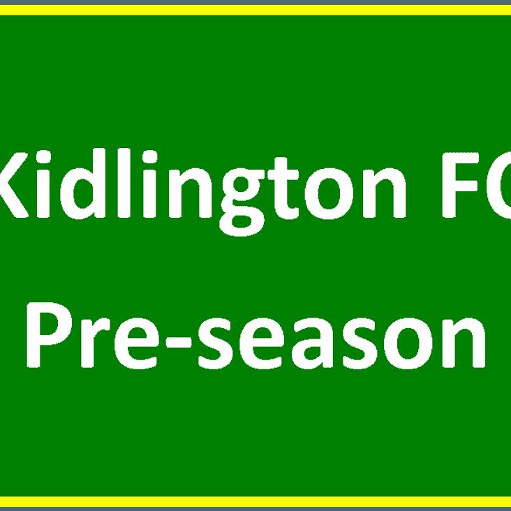 Pre-season Begins At Home