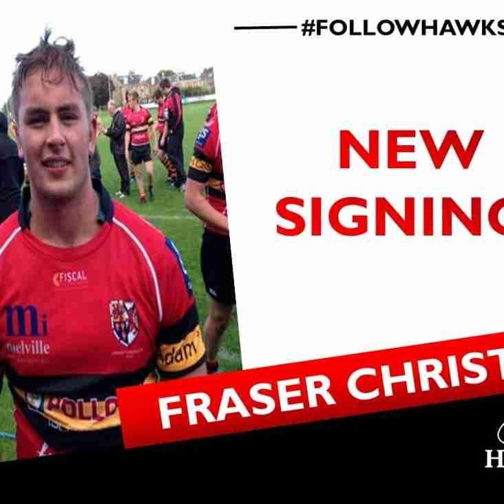 Next up Fraser Christie