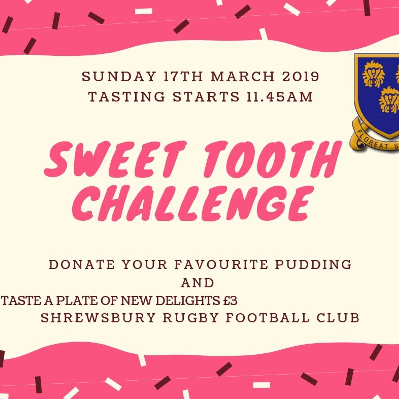 Mini & Junior Fundraising Sunday March 17th - Glorious cakes and puddings
