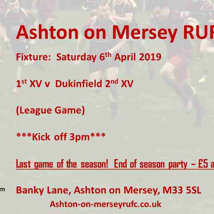 Sat 6th April last game of the season v Dukinfield 2s