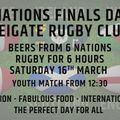 Six Nations FInals Day / Beer Festival