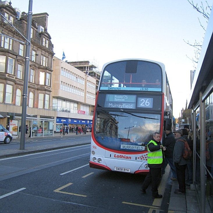 Bus to Murrayfield <