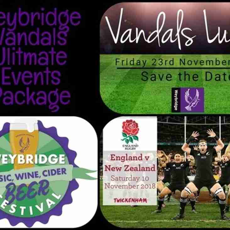 Vandals ultimate events package auction
